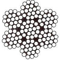 Nerezové lano šesťpramenné 7x19 AISI 316