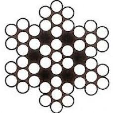 Nerezové lano šesťpramenné 7x7 AISI 316
