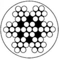 Nerezové lano poplastované 7x7+PVC AISI 316