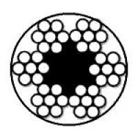 Oceľové lano polastované (6x7M +FC)+PVC