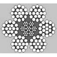Oceľové lano šesťpramenné FILLER (6x19)+6F + IWRC