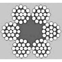Oceľové lano šesťpramenné FILLER 6x25F +FC