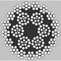 Oceľové lano viacpramenné HERKULES 6x17+17x7