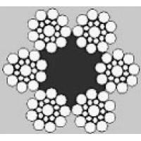 Oceľové lano šesťpramenné SEAL 6x19S +FC