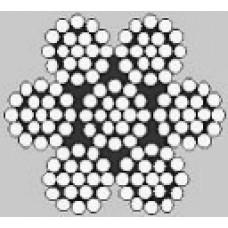 Oceľové lano šesťpramenné Štandard 6x19M +IWRC