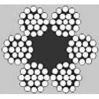 Oceľové lano šesťpramenné Štandard 6x19M +FC