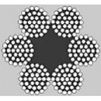 Oceľové lano šesťpramenné Štandard 6x37M +FC