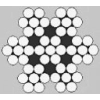 Oceľové lano šesťpramenné Štandard 7x7M