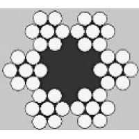 Oceľové lano šesťpramenné Štandard 6x7M +FC