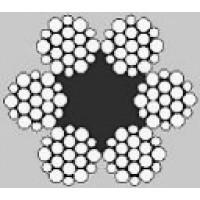 Oceľové lano šesťpramenné WARRINGTON 6x19W +FC