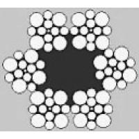 Oceľové lano šesťpramenné WARRINGTON 6x13W +FC