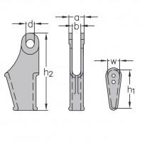 Klinová lanová svorka-zámok DIN 43148 / EN 13411-6-1