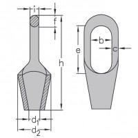 Klinová lanová svorka-zámok DIN 83313 typ A