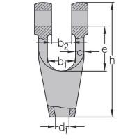 Klinová lanová svorka-zámok DIN 83313 typ B (bez skrutky)