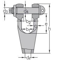 Klinová lanová svorka-zámok DIN 83313 typ C (so skrutkou, maticou a závlačkou)