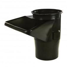 Sklz na stavebnú suť, stavebný odpad HG - S násypkou čierny