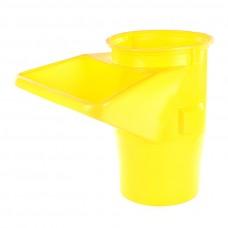Sklz na stavebnú suť, stavebný odpad HG - S násypkou žltý