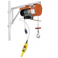 Elektrický Lanový navijak- vrátok stavebný pre lešenie –na konzolu so svorkami