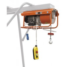 Elektrický Lanový navijak- vrátok stavebný pre lešenie – zo stojanom